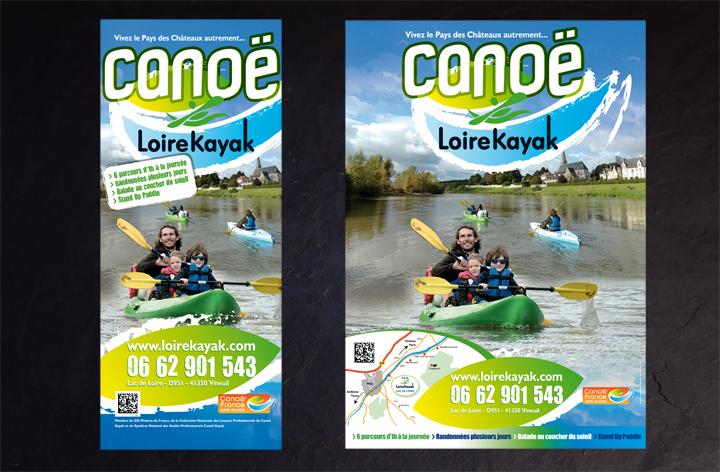 Affiche et dérouleur Loire KAYAK