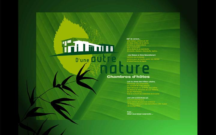 Page d'accueil site chambres d'hôtes d'Une Autre Natrue