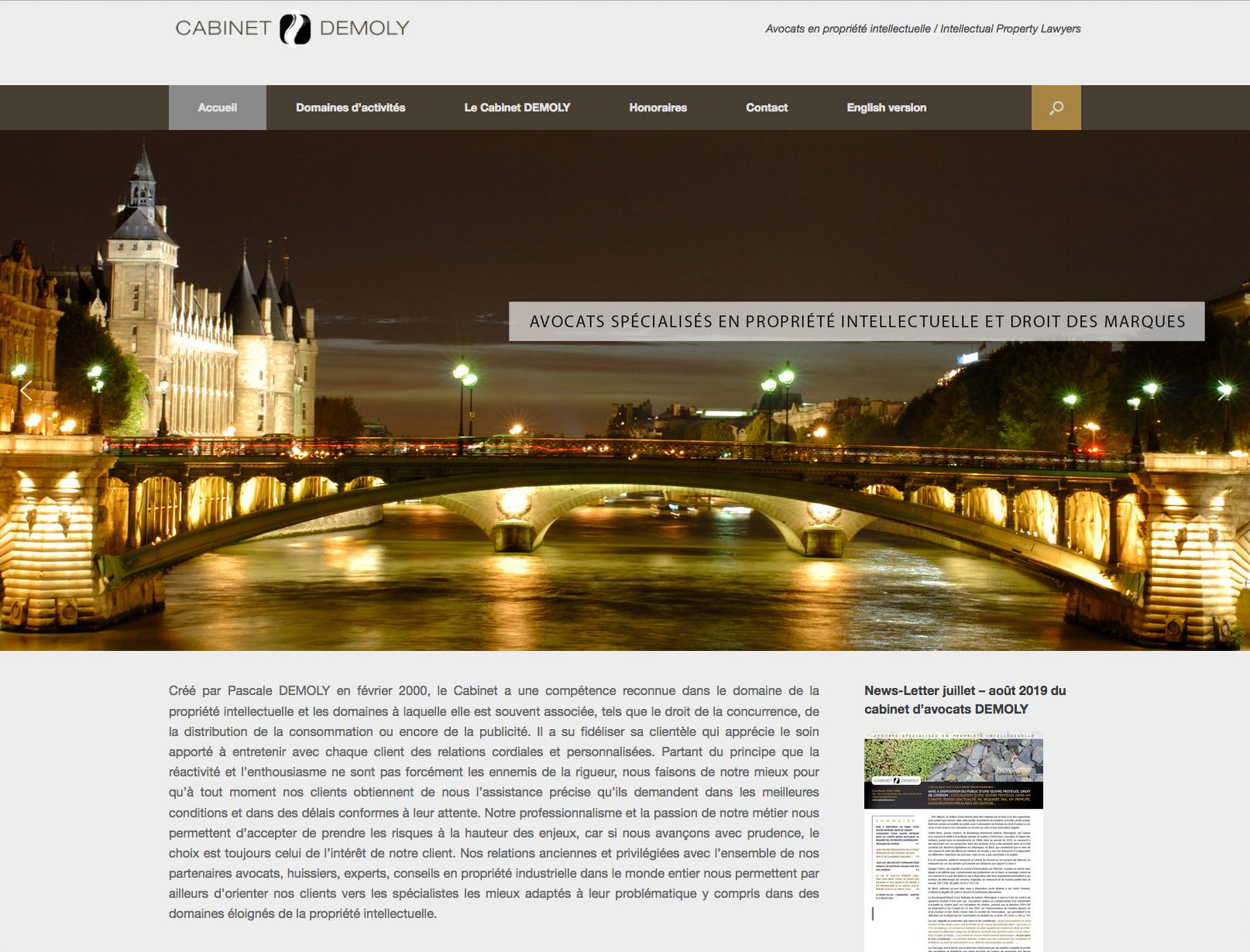 Site web avocats spécialisés en propriété intellectuelle