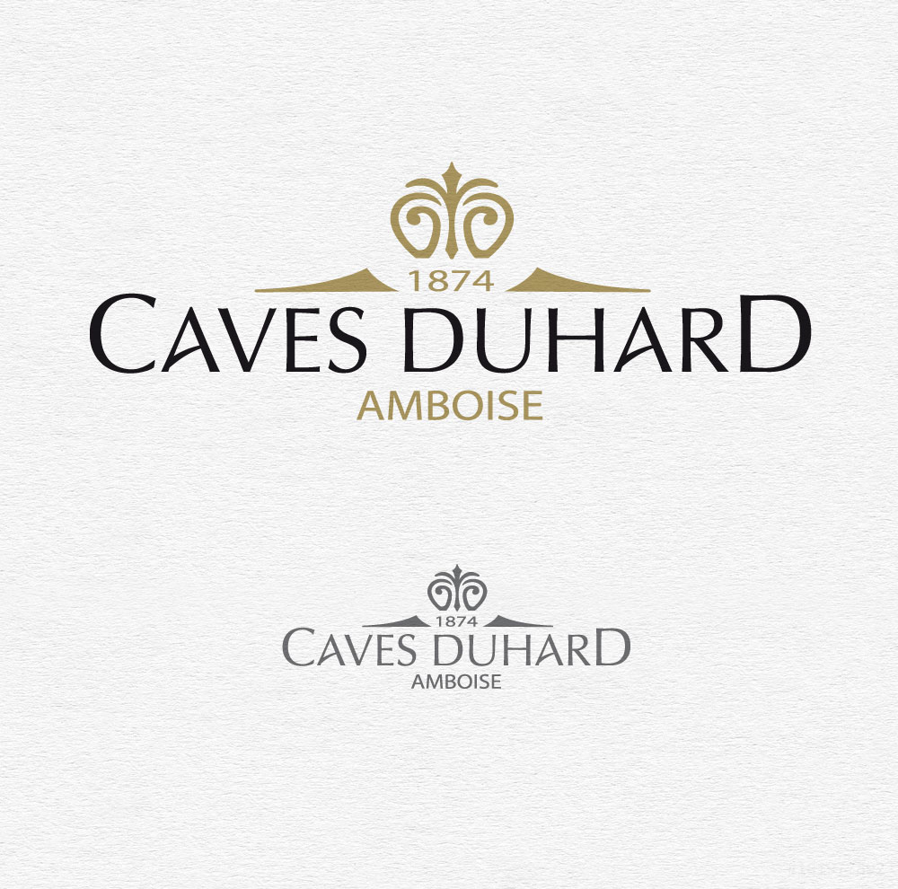 Identité visuelle des caves DUHARD à Amboise